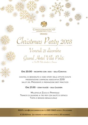 Christmas Party 2018 - INVITO AI SOCI